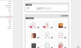 Schermafdruk 4WEB template selectie