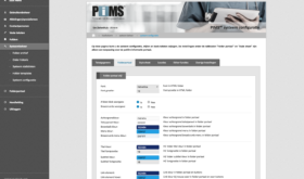 Schermafdruk: PIMS systeemconfiguratie